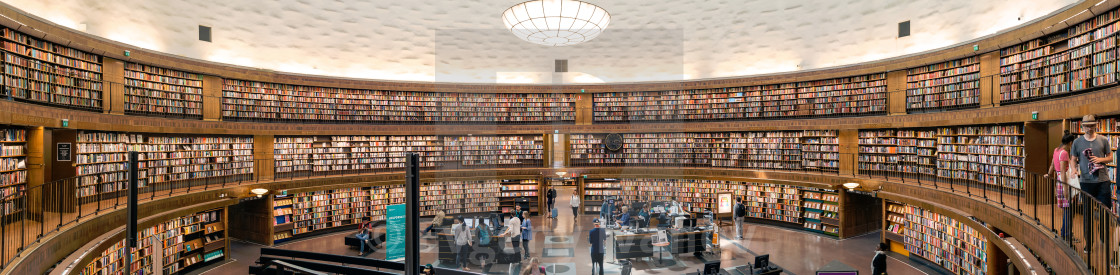 """Stockholm City Library panorama"" stock image"