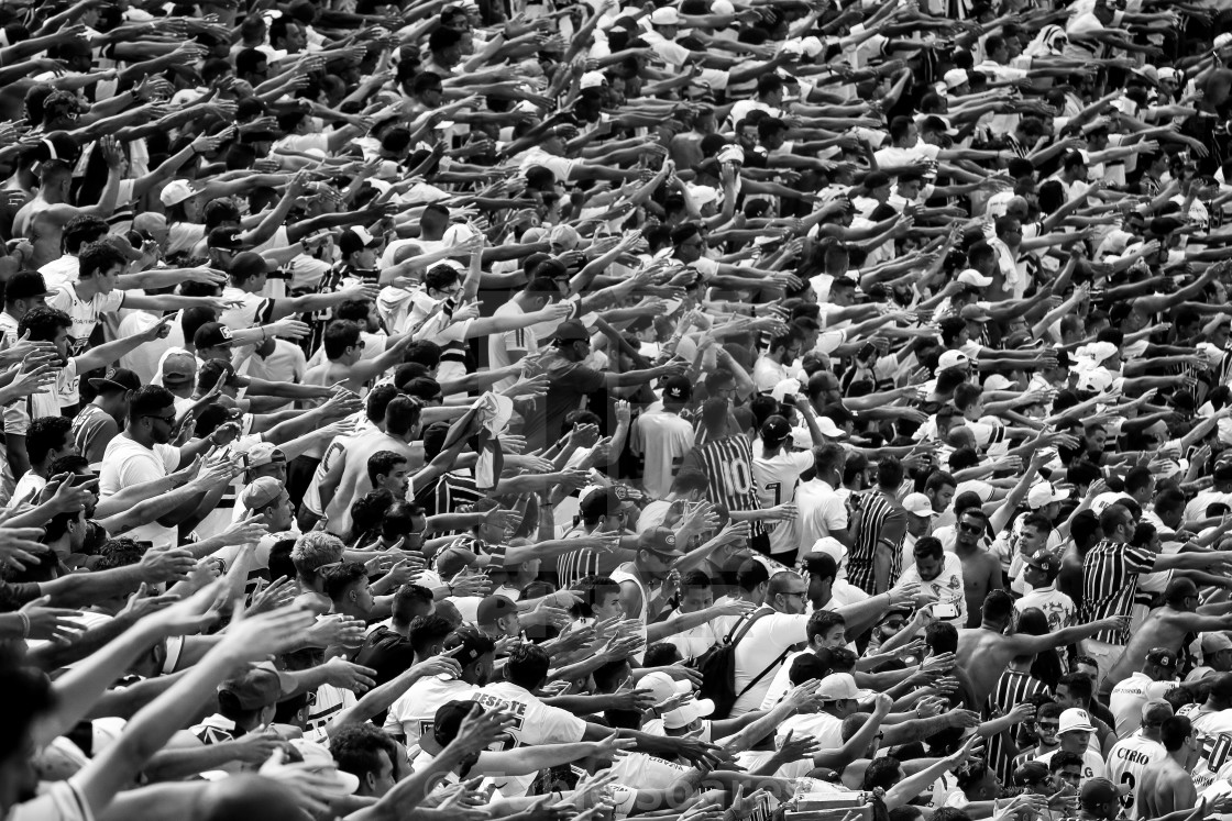 """São Paulo football fans"" stock image"