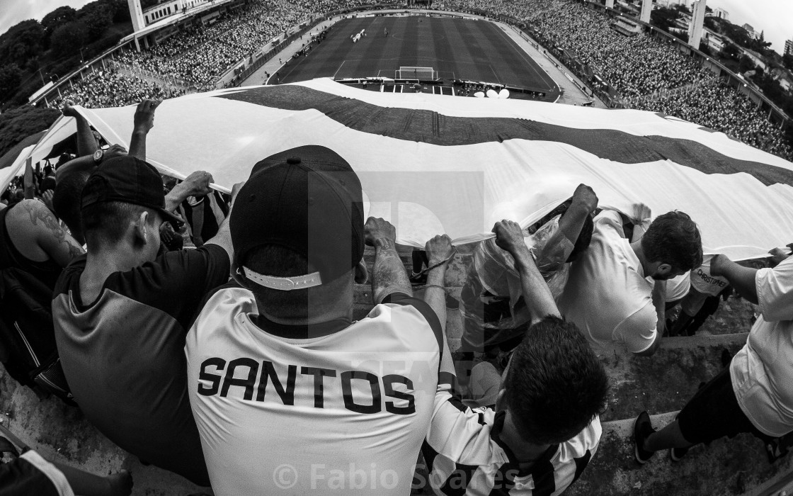 """Santos football fans"" stock image"