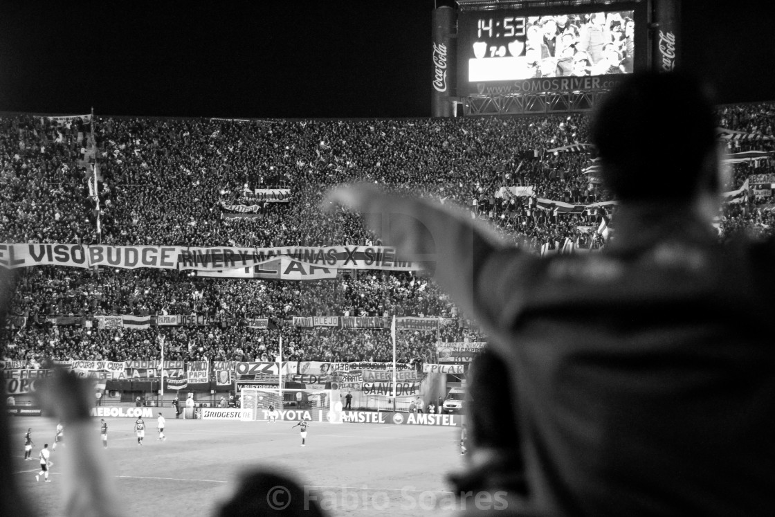 """River Plate's football fans"" stock image"