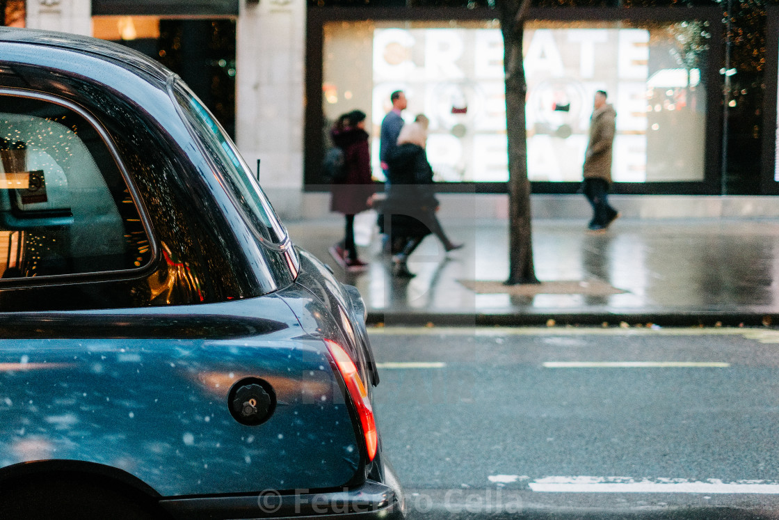 """""""Taxy Cab in London"""" stock image"""