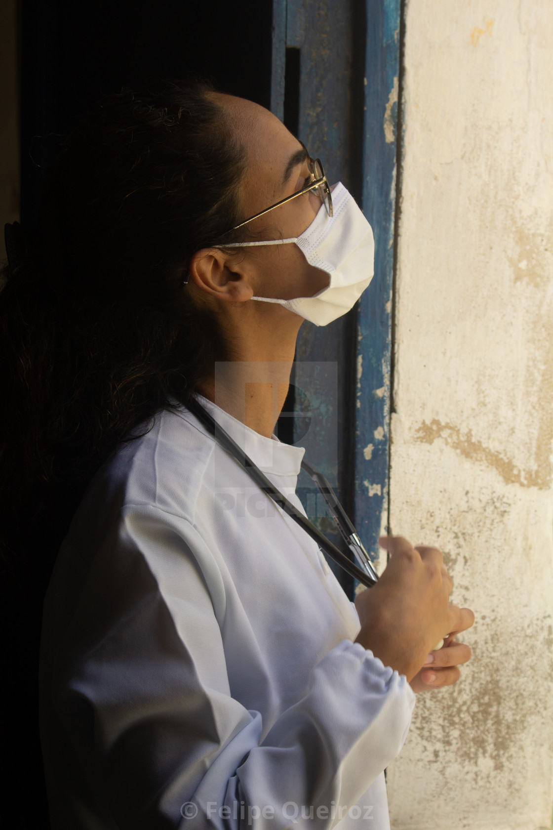 """""""Young medical woman wearing mask 2"""" stock image"""