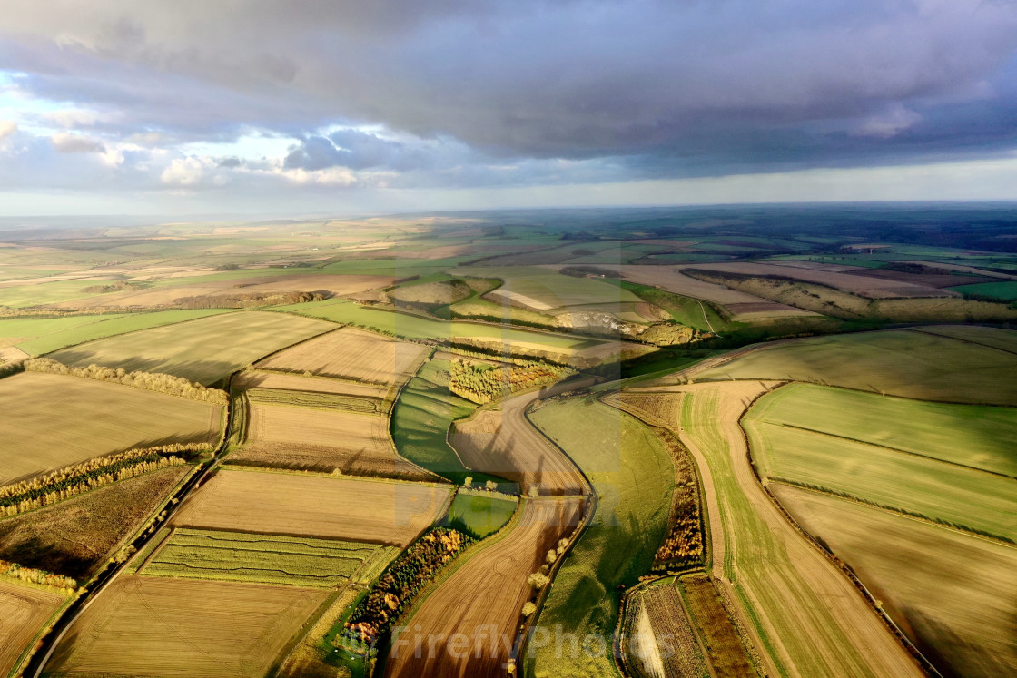 """""""Yorkshire Wolds"""" stock image"""