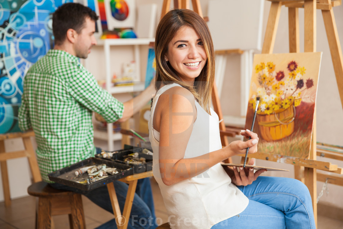 """Art workshop for adults"" stock image"