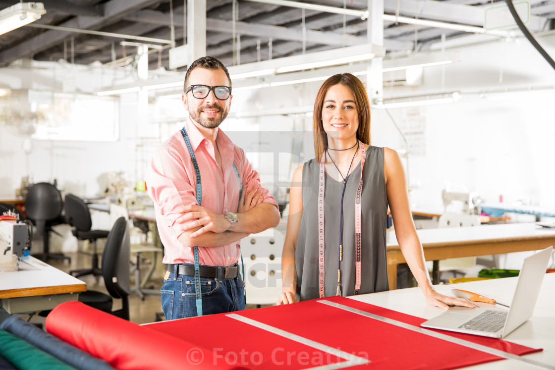 """Young Latin fashion designers at work"" stock image"