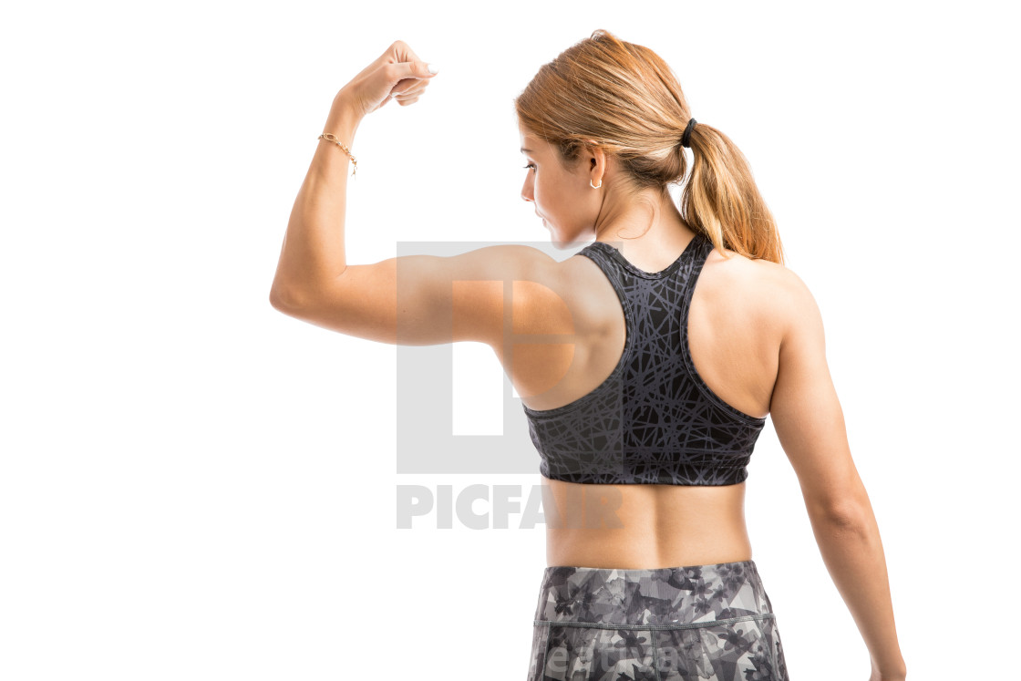 """Strong woman in a studio"" stock image"