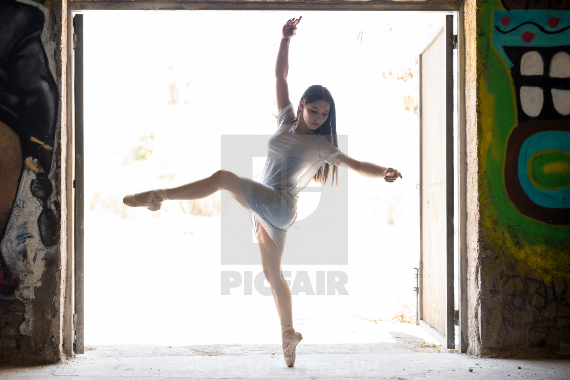"""Young woman performing ballet"" stock image"
