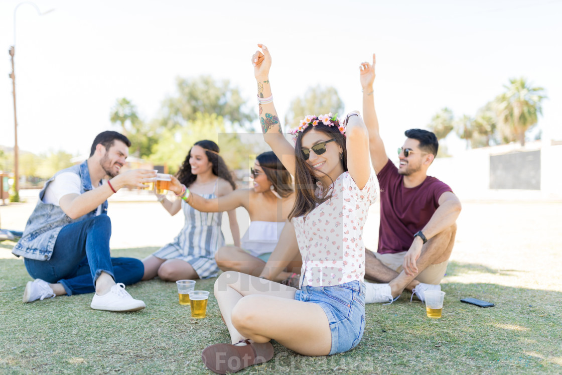 """Music Brings People Together"" stock image"