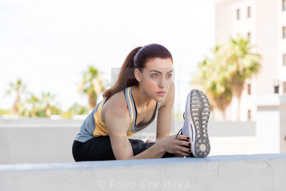"""Getting In An Early Morning Workout"" stock image"