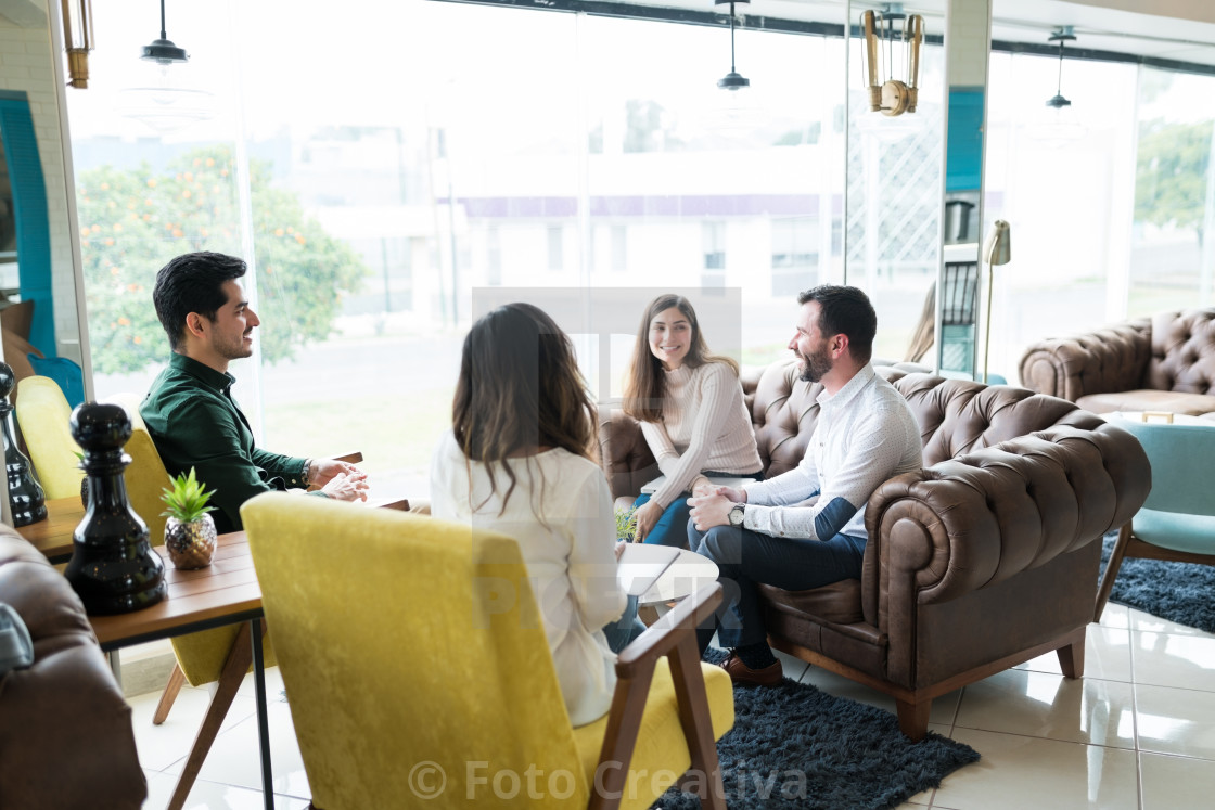 """Business Professionals Planning In Meeting At Office"" stock image"