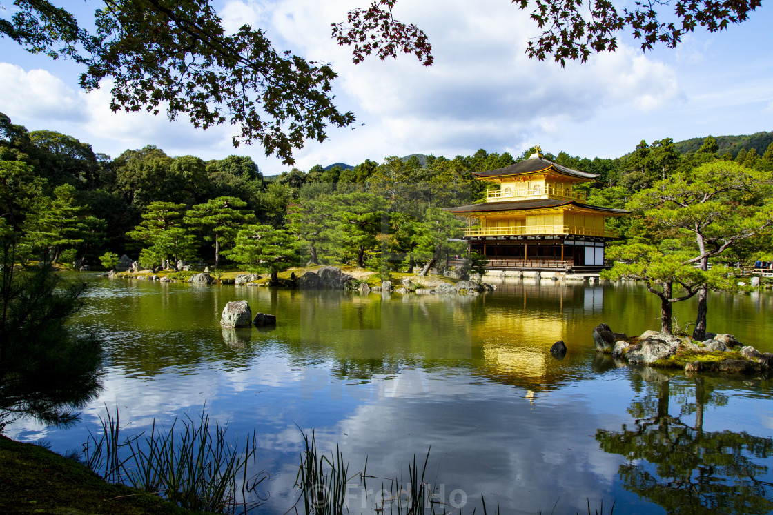 """The Golden Pavilion. Kinkakuji Temple in Kyoto, Japan."" stock image"