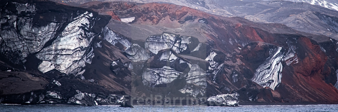 """""""Rock Formations on Deception Island"""" stock image"""