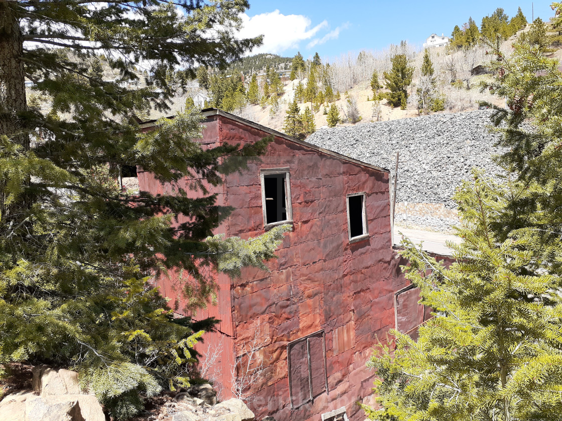 """War Dance II Goldmine shaft house Central City Colorado"" stock image"