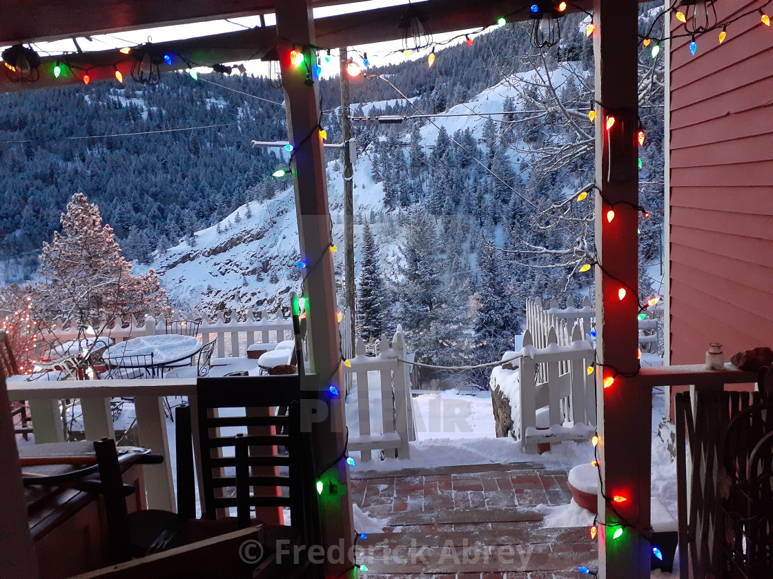 """Christmas Central City Colorado"" stock image"
