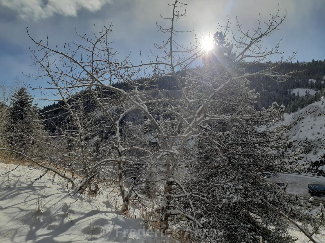"""""""Central City looking toward Black Hawk Colorado"""" stock image"""