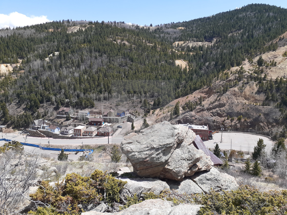 """Gold rush of 1859 present day Black Hawk Colorado USA"" stock image"