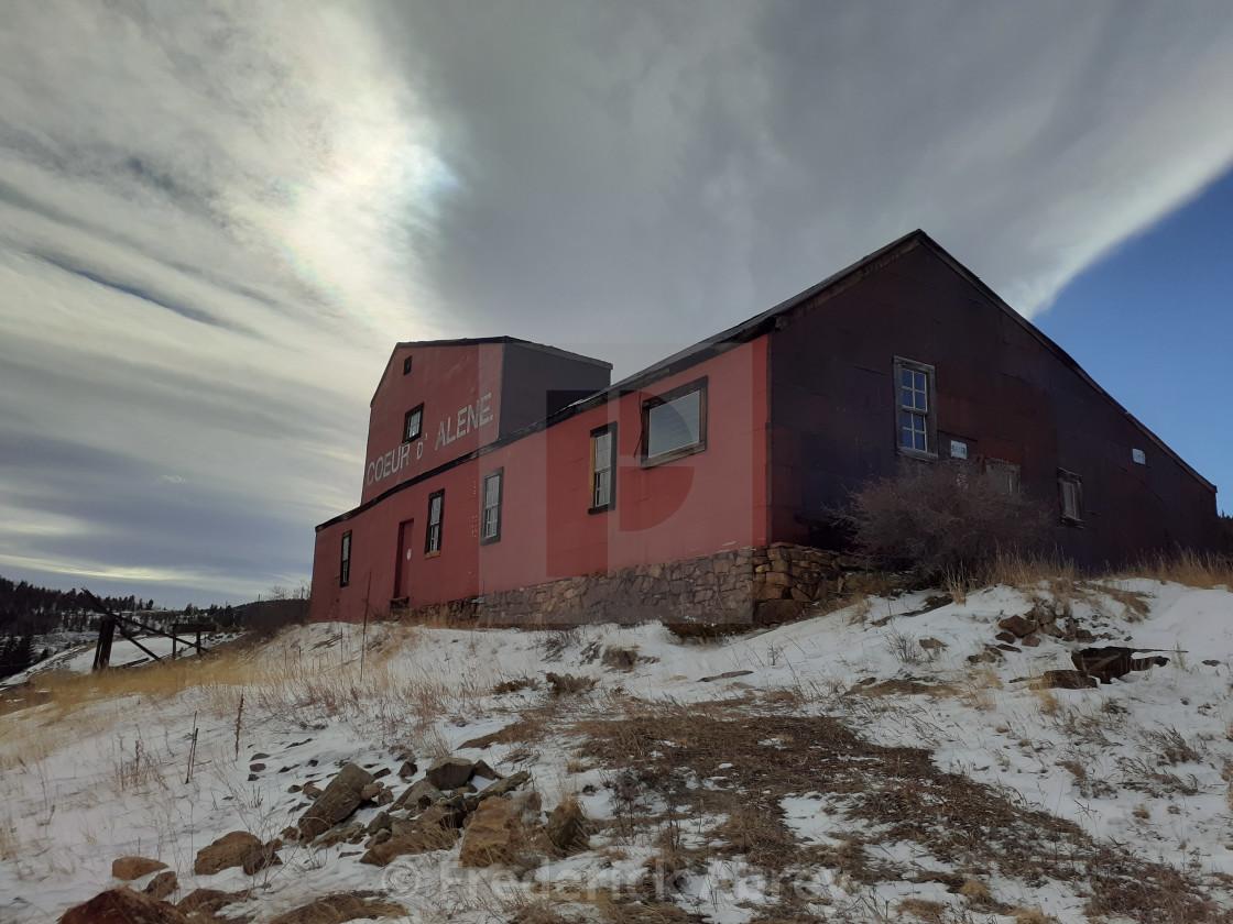 """Coeur d'Alene Mine Shaft House Central City Colorado"" stock image"