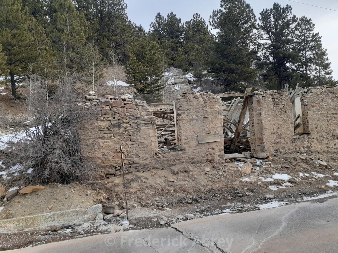 """Ruins Central City Colorado"" stock image"
