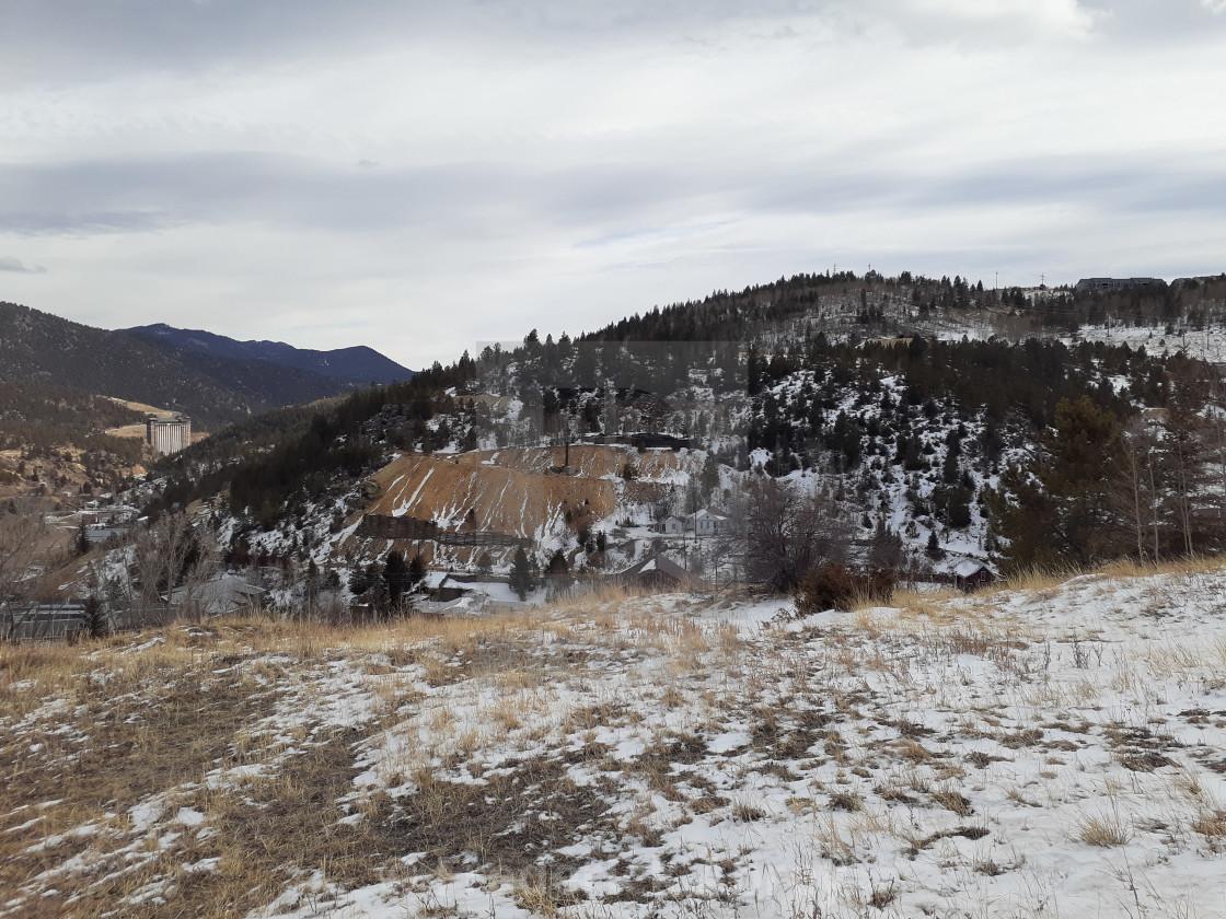 """Mine tailings Central City Colorado"" stock image"