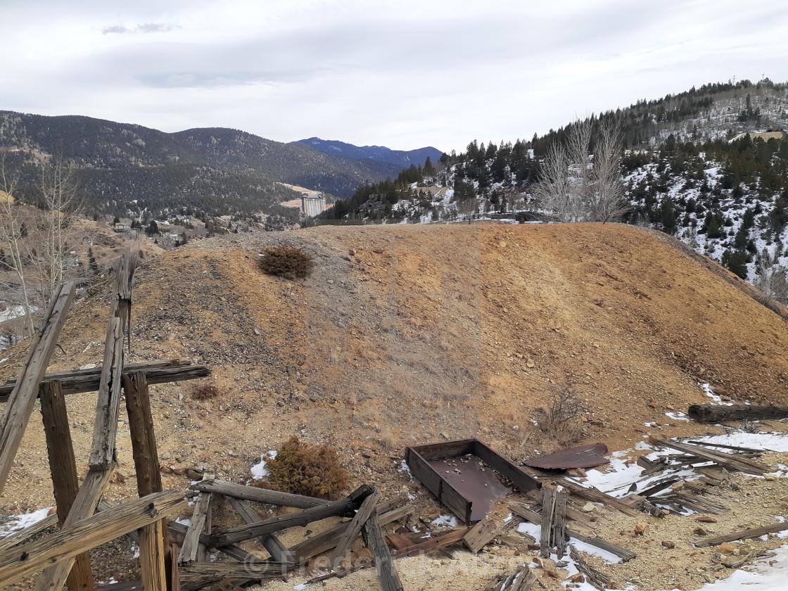 """Waste rock Coeur d'Alene Mine Central City Colorado"" stock image"