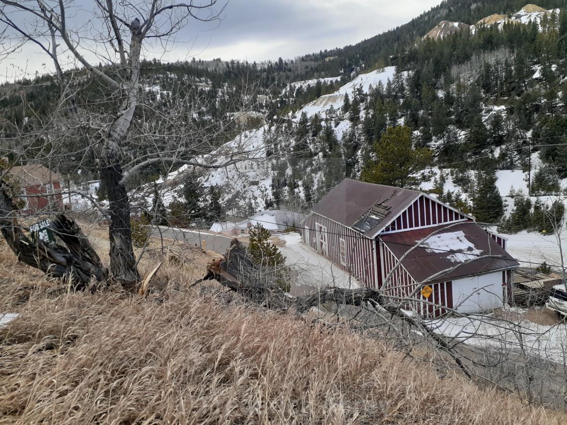 """The Becker Bates Mine Central City Colorado"" stock image"
