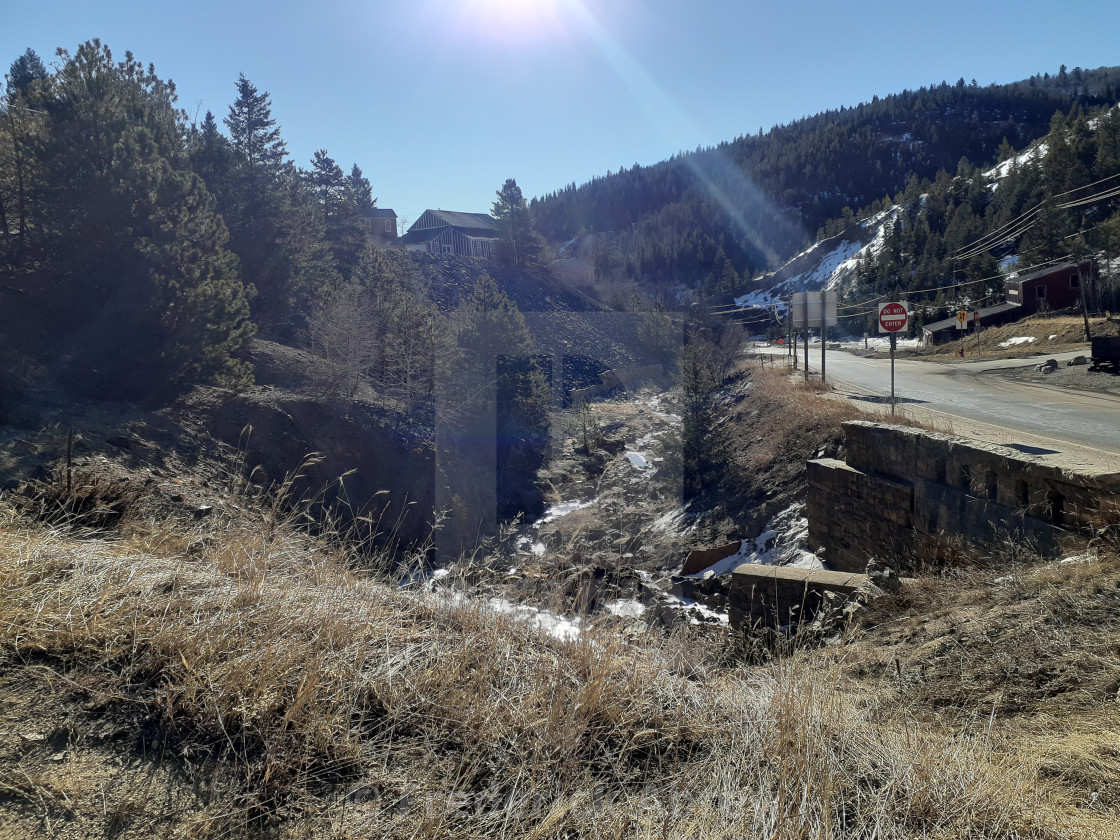 """""""Bates lode in the Gregory Gulch II Central City Colorado"""" stock image"""