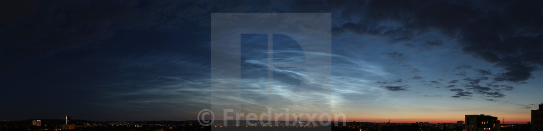 """""""Noctilucent clouds over northern Poland. High resolution."""" stock image"""
