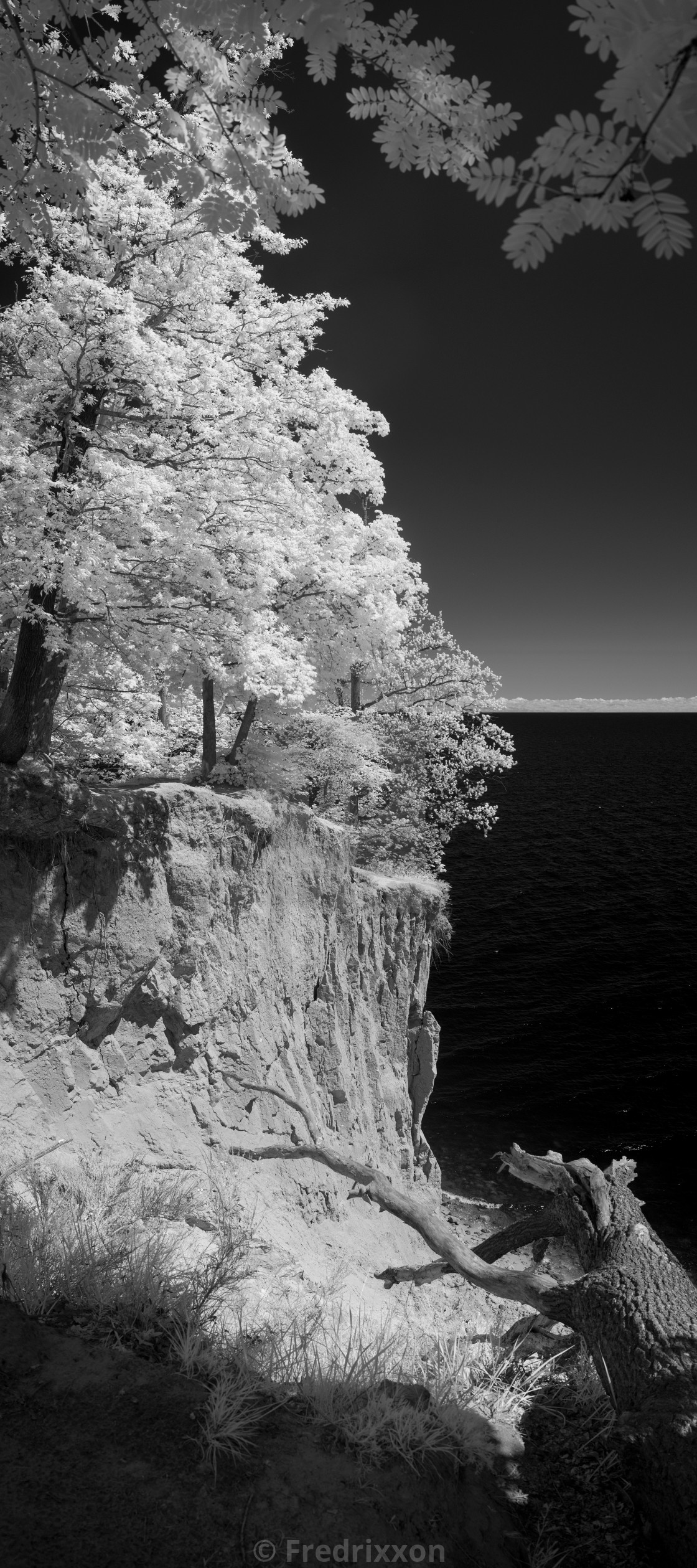"""""""Sandy cliffs of Orlowo by the Baltic Sea, Poland."""" stock image"""
