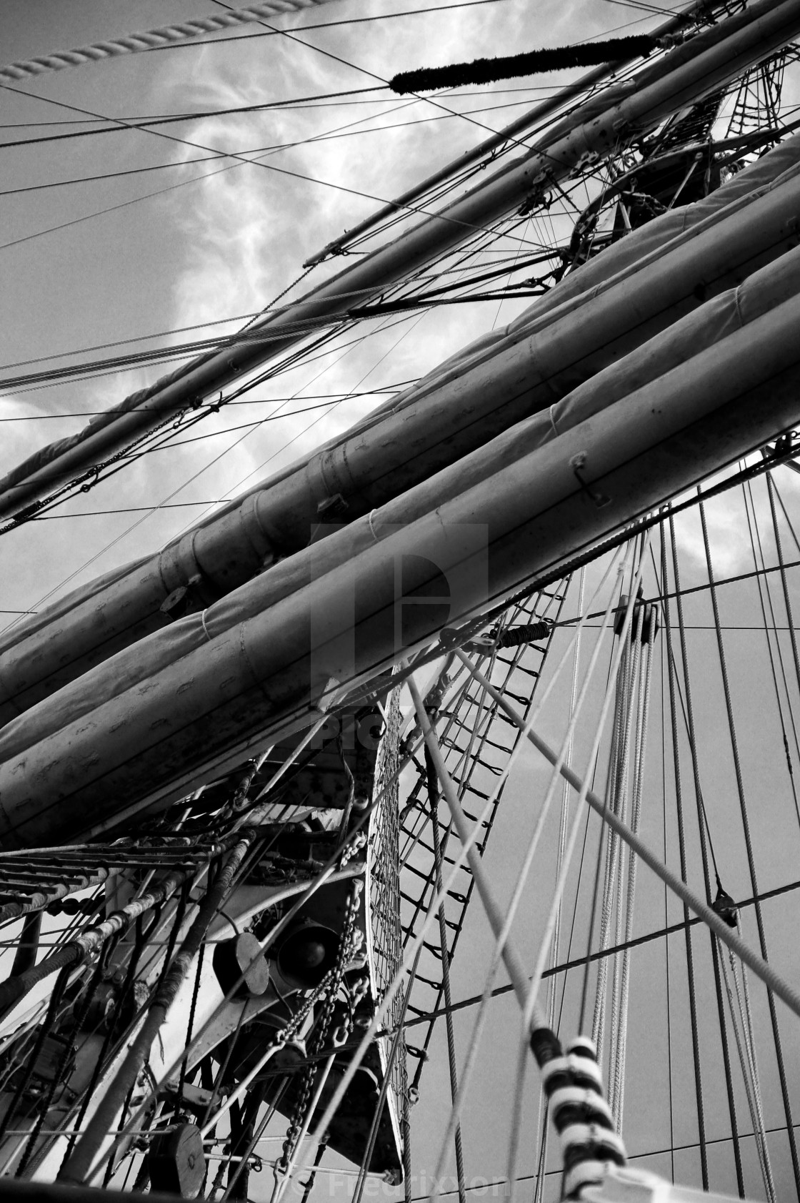 """""""Details of ships in harbour of Gdynia."""" stock image"""