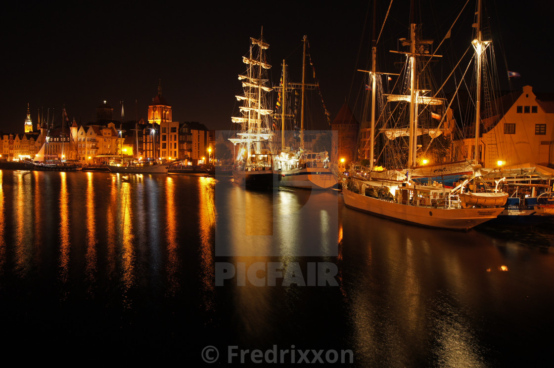 """""""Gdansk, Poland - July 7th 2018 : The 22nd Baltic Sail tall ships tour."""" stock image"""