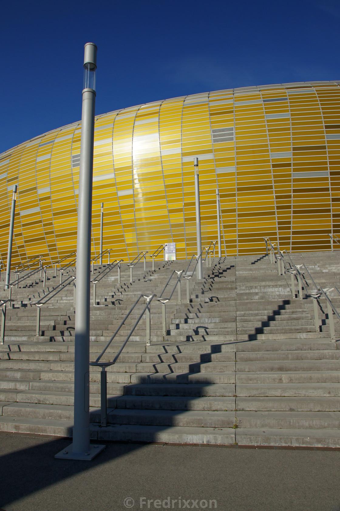 """Euro 2012 stadium in Gdansk, Poland."" stock image"