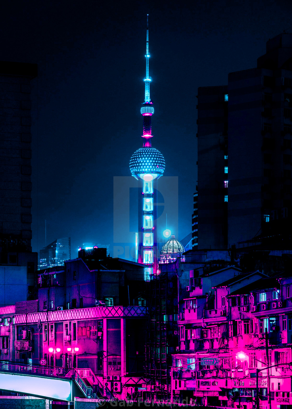 """""""Neon Lights Places"""" stock image"""