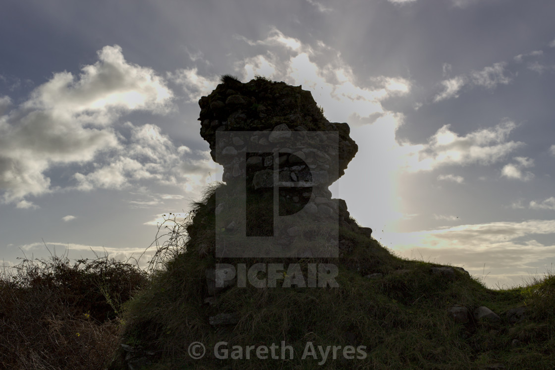 """Kenfig Castle"" stock image"
