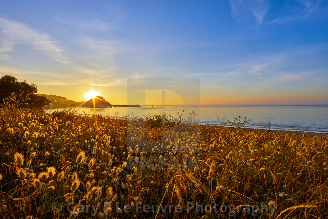 """""""Grouville Bay"""" stock image"""