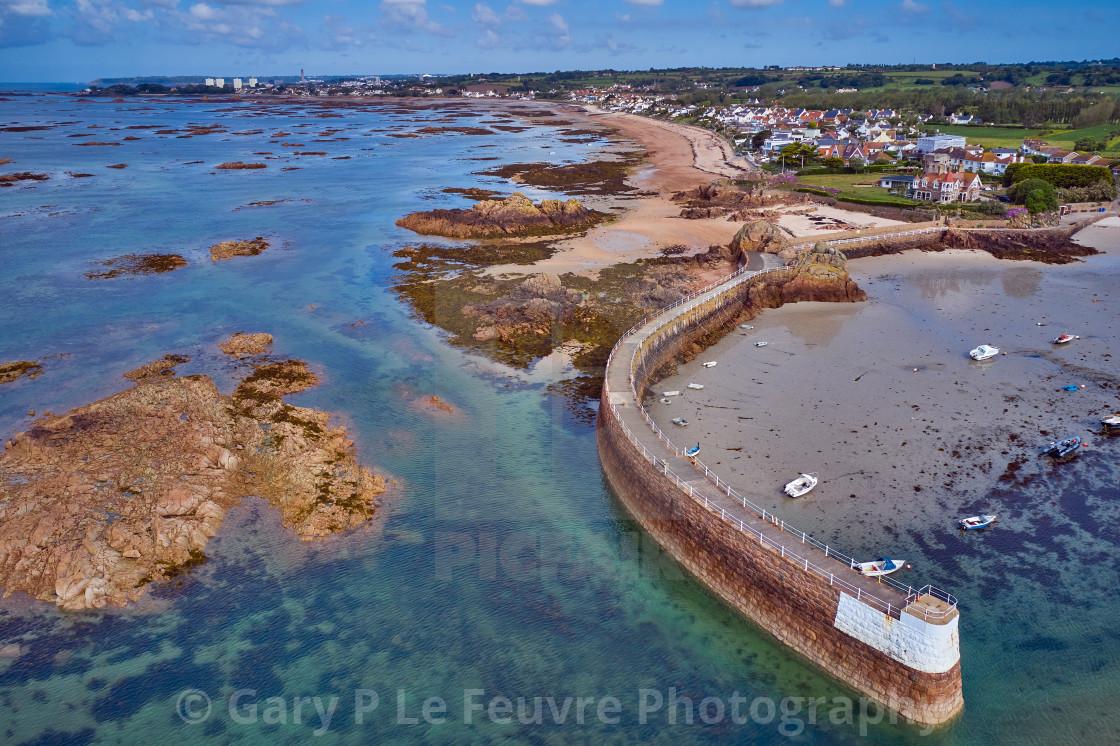 """""""Image of La Rocque Harbour"""" stock image"""