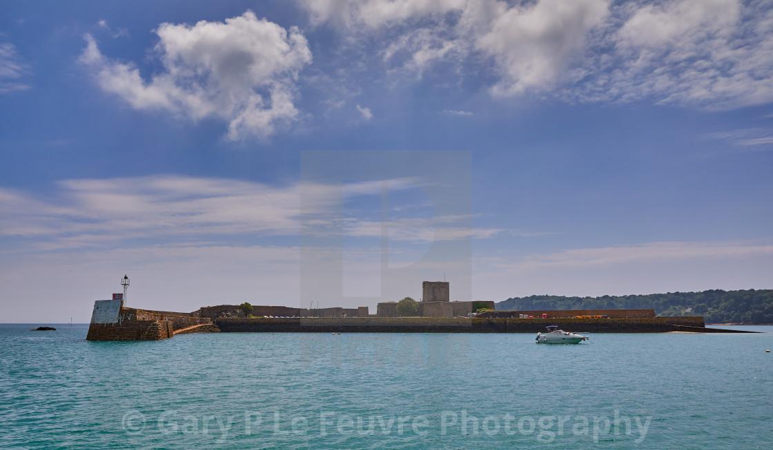"""St Aubins Fort, Jersey CI"" stock image"