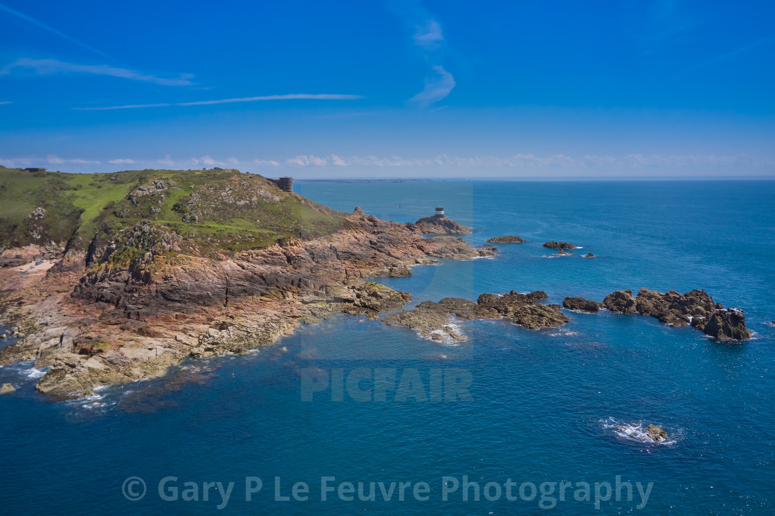 """""""Noirmont Point, Jersey Channel Islands"""" stock image"""