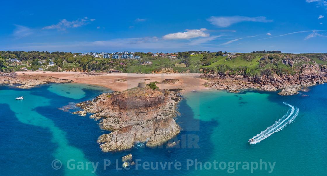 """Portelet Bay, Jersey, Channel Islands"" stock image"