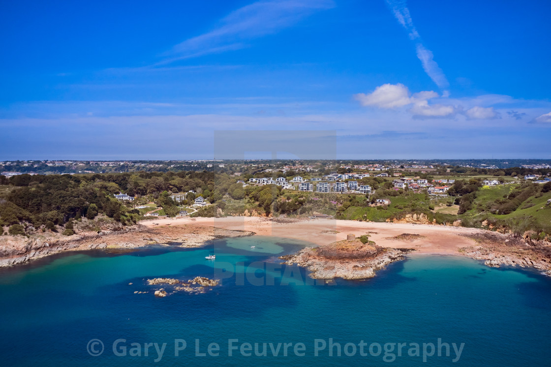 """""""image of Portelet Bay, Jersey, Channel Islands"""" stock image"""