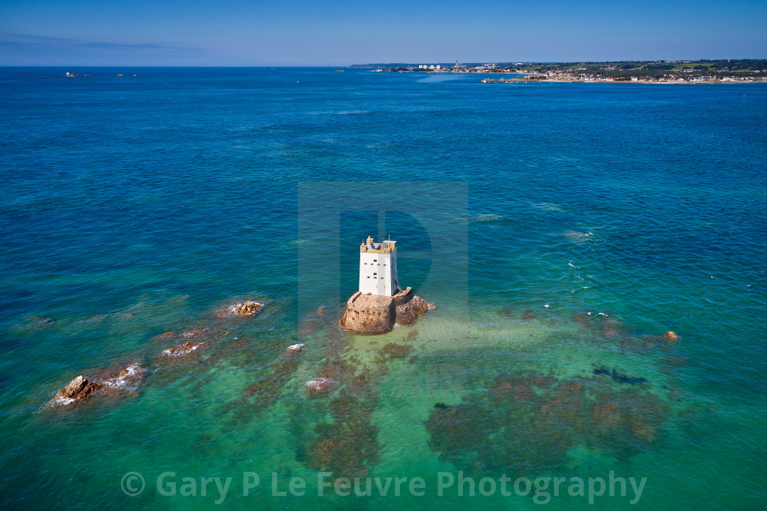 """""""Seymour Tower, Jersey, Channel Islands."""" stock image"""