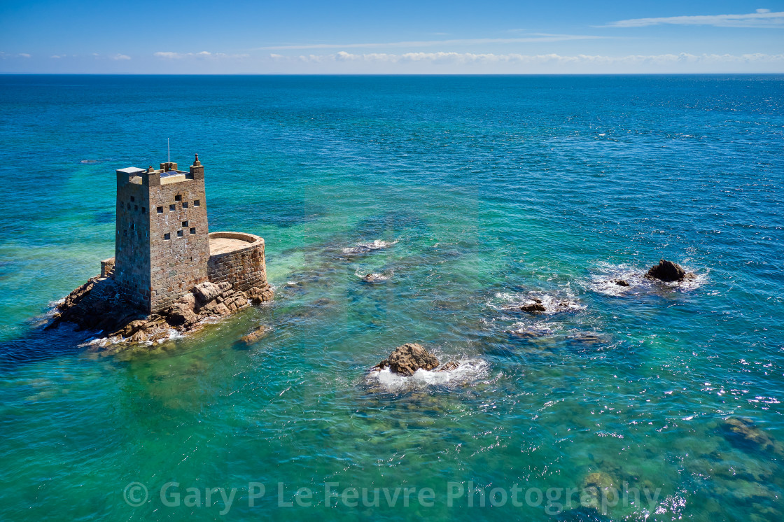 """""""Seymour Tower, Jersey Channel Islands."""" stock image"""