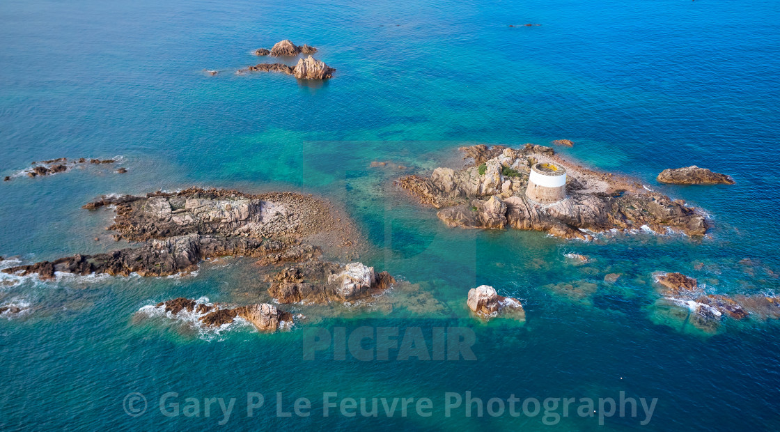 """""""Aerial drone image of Icho Tower"""" stock image"""