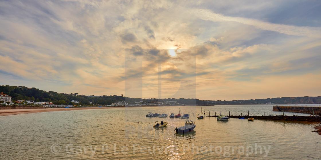 """St Brelades Bay"" stock image"