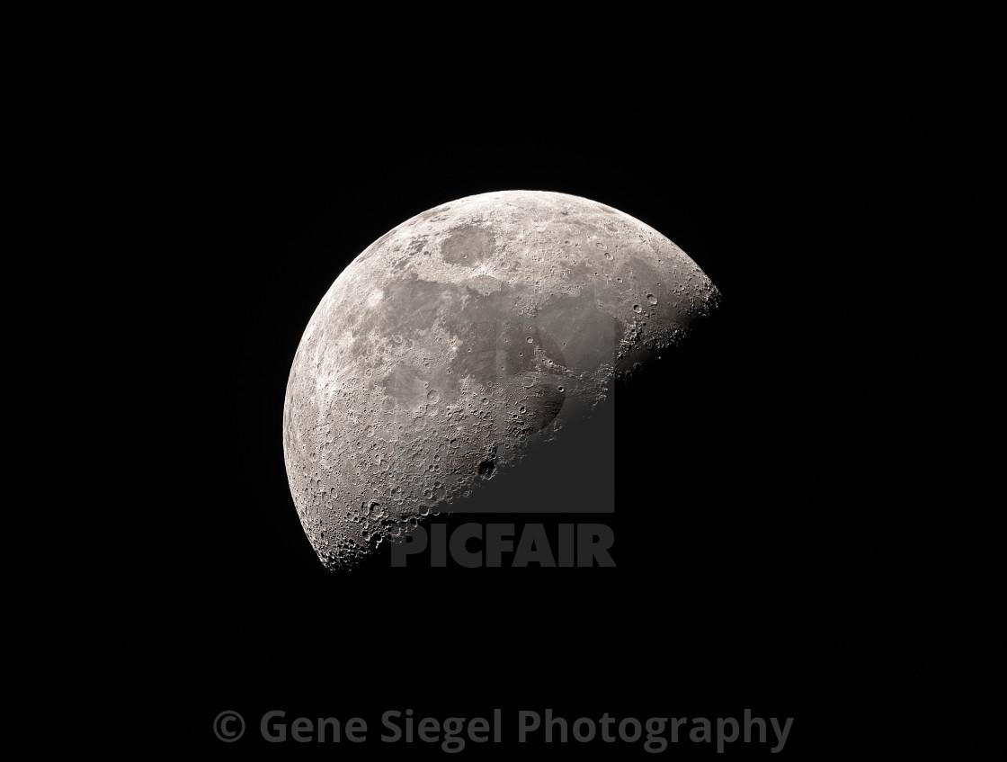 """1st Quarter Moon"" stock image"