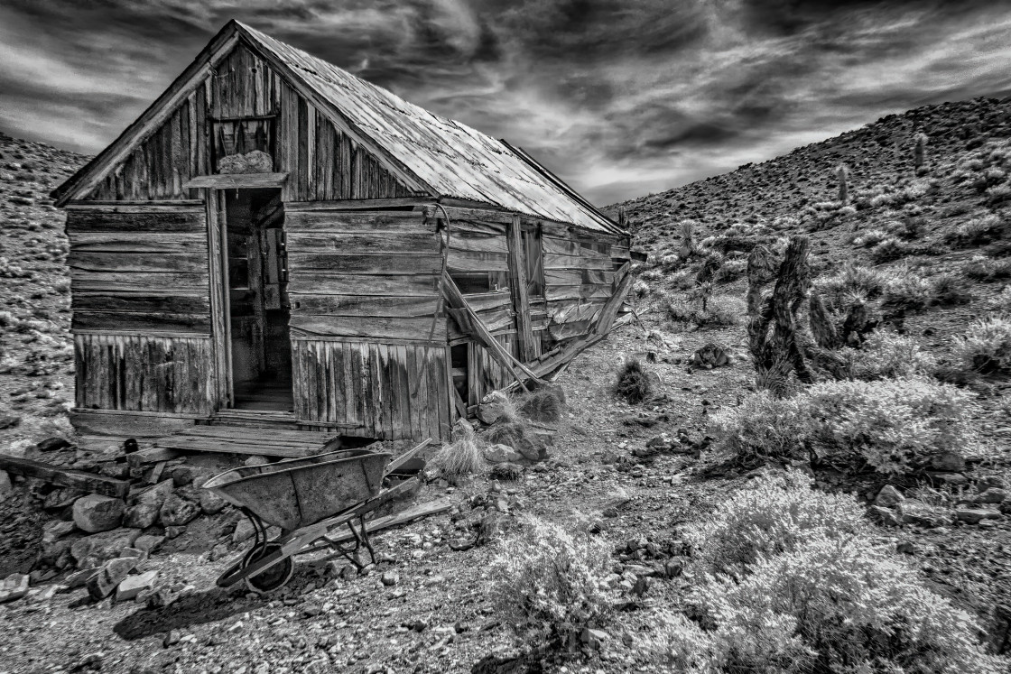 """Cabin at the Lost Burro Mine"" stock image"