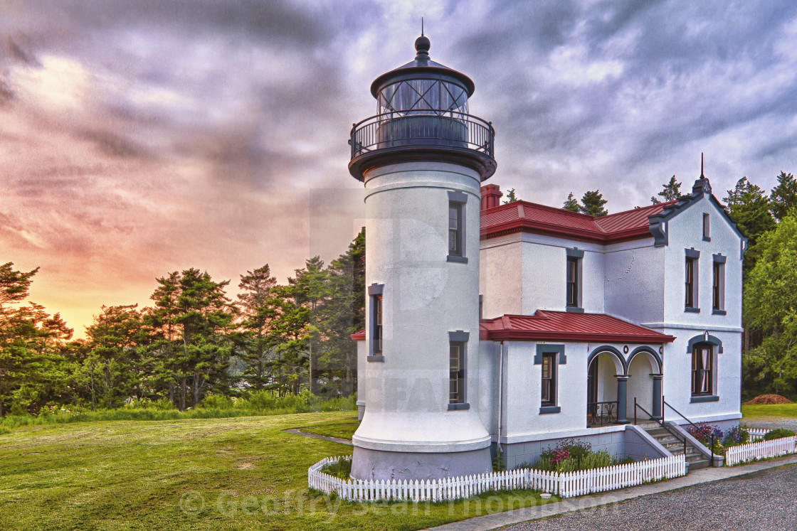 """""""Admiralty Head Lighthouse"""" stock image"""
