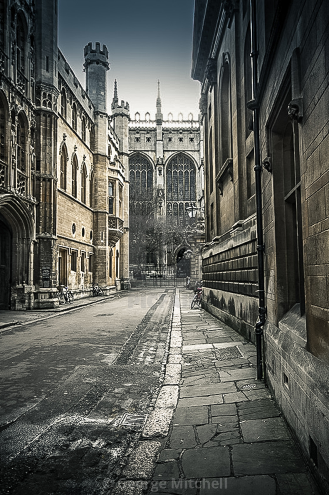 """Trinity Lane in Cambridge, UK"" stock image"