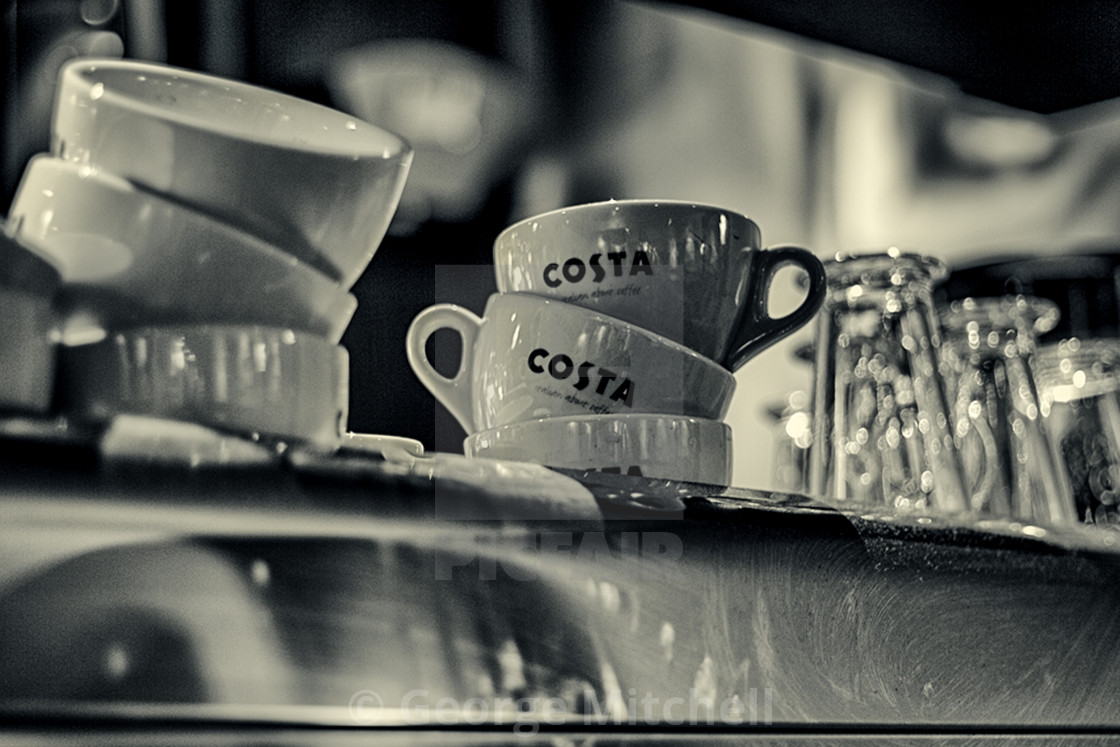 """""""Early morning Coffee cups"""" stock image"""
