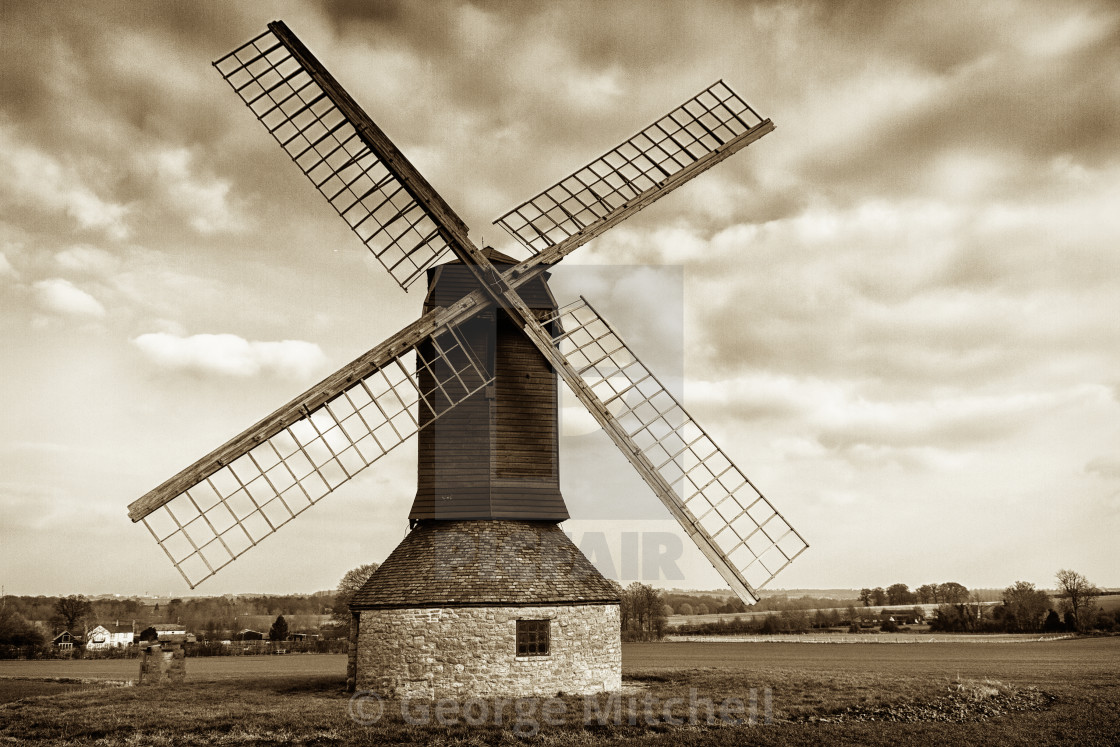 """Postmill at Stevington, Bedfordshire, UK"" stock image"