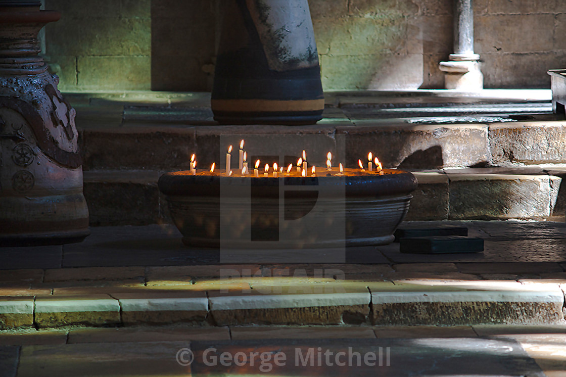 """Church Candles, Lincoln Cathedral"" stock image"